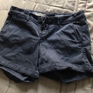 Navy cuffed shorts